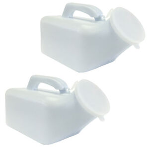 Male Camping Outdoor Emergency Travel Toilet Urinal Bottle Twin Pack 1000ml