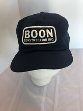 Vintage Snapback Hat Cap Trucker Mesh Boon Construction Navy blue K Prod Nos