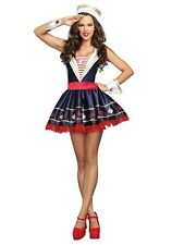 WOMEN'S SHORE THING SAILOR COSTUME SIZE LARGE (with defect)