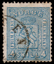 Norway Scott 14 (1867) Used F, CV $15.00 C
