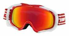 DIRTY DOG 54115 OUTRIGGER ADULT SNOW SKI GOGGLES RED WHITE with FUSION MIRROR