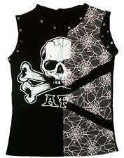 Punk rock a F Skull t-shirt XS/s 34 rockabilly emo ska Gothic Diva
