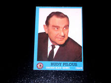 1962-63 TOPPS VINTAGE HOCKEY CARD# 23 RUDY PILOUS (BLACK HAWKS) NRMT/MT