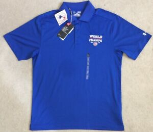 Under Armour CHICAGO CUBS 2016 World Series Champs Golf Polo Shirt Men's Medium