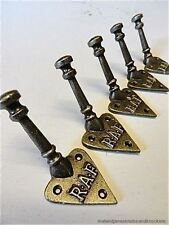 SET OF 5 FANTASTIC RAF WALL COAT HOOKS CAST IRON DOOR HANGER HOOK