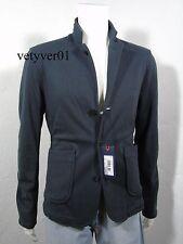 New ARMANI JEANS-VMN84 3 Button Blazer Sport Coat Fleece Jacket Navy Blue sz XL