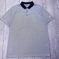 Nike Golf Standard Fit Polo Shirt Mens Large Striped Dri-Fit Short Sleeve P212