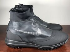 Mens Nike Lunar Vaporstorm Golf Shoes Black/Silver/Solar Red 918622-001 Sz 10.5