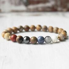 7 Chakra Healing Balance Beaded Bracelet Picture Jasper Yoga Reiki Prayer Stones