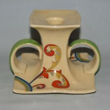 very rare Royal Doulton Art Deco Syren pattern twin handled candlestick D5102