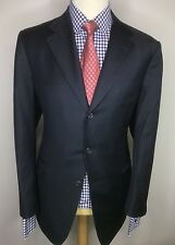 GIEVES & HAWKES SAVILE ROW LONDON LUXURY SUIT PLAIN BLUE CLASSIC FIT 46x40x33
