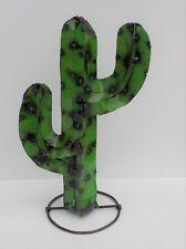 """Metal Yard Art Saguaro Cactus Sculpture 16 1/2"""" Tall nb"""