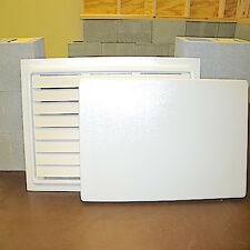 "Crawl Space Door (12"" x 32"") White 