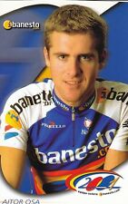 CYCLISME carte cycliste AITOR OSA   équipe BANESTO 2001