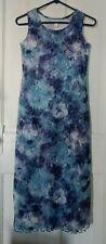 Limited Too purple, blue, tie dye, lined, maxi dress, sz 14 Easter wedding dance