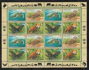 A-17) United Nations Vienna 235 - 238 MNH - Minisheet Endangered Species 1998
