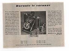 Pubblicità 1941 IKONTA NETTAR ZEISS IKON FOTO PHOTO old advert werbung publicitè