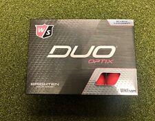 12 New 2020 Wilson Staff Duo Optix High-Visibility Matte Pink Golf Balls