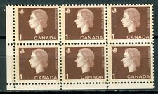 Canada #401piii 404iii Corner Block 6 LL Cameo Wide Narrow Tag Bars MNH