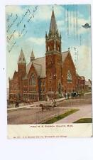Duluth, MN First Methodist Episcopal Church Doane cancel used postcard 1907