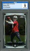 2014 topps chrome #115 DEREK CARR oakland raiders rookie cad AGS 9