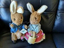 Beatrix Potter Vintage Plush Eden Peter Rabbit & Mrs Rabbit