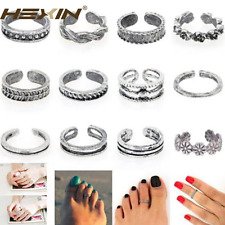 Fashion 12PCs Open Toe Ring Finger Foot Simple Celebrity Jewelry Retro Silver