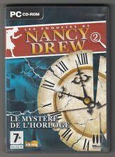 *** Enquêtes Nancy Drew 2 _ Le Mystère de l'Horloge *** CD-Rom PC - vintage 2005