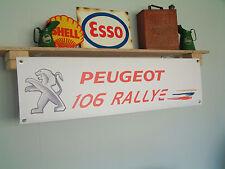 PEUGEOT 106 Series 2 Rallye PVC Workshop Banner S2