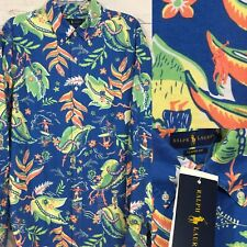 MENS RALPH LAUREN HAWAIIAN FLORAL BUTTON DOWN SHIRT SIZE XL
