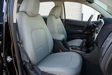 GMC CANYON 2015-2016 IGGEE S.LEATHER CUSTOM FIT SEAT COVER 13COLORS AVAILABLE