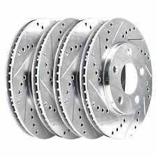[2 FRONT + 2 REAR] 4 Platinum Hart *DRILLED & SLOTTED* Disc Brake Rotors - 1640