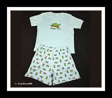 """New Adult Baby Play Diaper Pajamas Short Set Chest 50"""" 100% Cotton Size Xl/3X"""