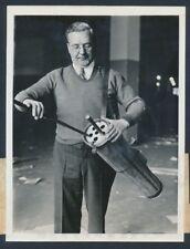 """1932 Golfschläger Ausrüstung Innovation, """"Einbrecher Proof Golftasche"""" Vintage Foto"""