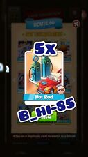 Coin Master Cards x 5 Hot Rod ( route 66 set card)