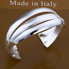 Wholesale Price 925Sterling Silver Smooth Three Flake Combined Bracelet B044