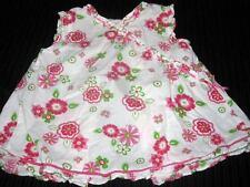 Girls 18 mo sleeveless white shirt top flowers