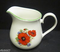 Poppy English Fine Bone China Cream Jug By Milton China