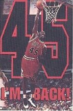 1995 Michael Jordan I'm Back #45 Chicago Bulls Original Starline Poster OOP