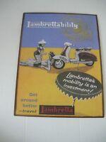 Targa tabella insegna in metallo LAMBRETTA MOTO
