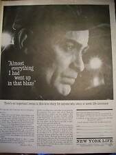 1962 New York Life Insurance Everything in Blaze Ad