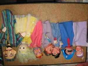 lot de 7 marionnettes à main 5+2 puppet