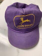 Vintage John Deere Hat Snapback Purple