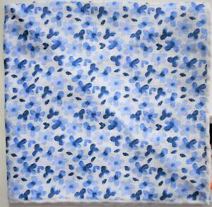 New Authentic LUCIANO BARBERA FLORAL Print 100% LINEN Pocket Square Handkerchief