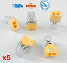 x5 Quick Splice Electrical Cable Join Connect Wire 2 Pin Terminal Self Locking