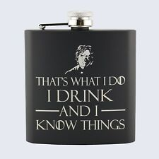 TYRION LANNISTER, Game Of Thrones Inspired, Stainless Steel Hip Flask