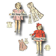 """Vintage Shirley Temple, Patsy, Composition, Movie Doll Clothes Pattern ~ 13"""" 14"""""""