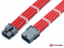 8 Broches PCIE GPU rouge à manches 45 CM Power Supply extension + 2 cable Combs