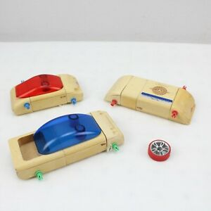 Set of 3 CALELLO AUTOMOBLOX CARS Missing Most Wheels