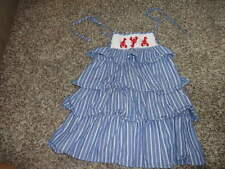 BOUTIQUE ZUCCINI 2T SMOCKED BLUE STRIPED RHUMBA LOBSTER DRESS